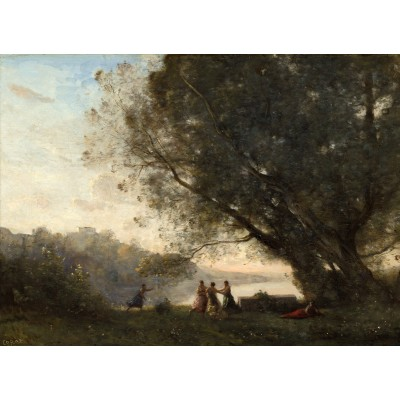Puzzle  Grafika-01967 Jean-Baptiste-Camille Corot: Dance under the Trees at the Edge of the Lake, 1865-1870