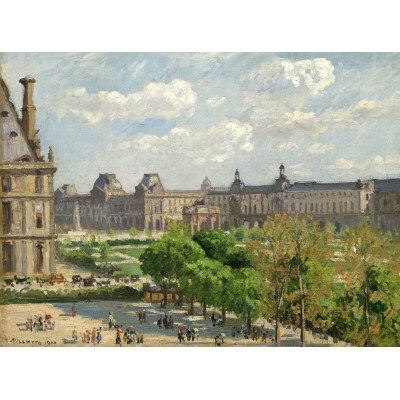 grafika-Puzzle - 2000 pieces - Camille Pissarro: Place du Carrousel, Paris, 1900