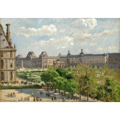 grafika-Puzzle - 1000 pieces - Camille Pissarro: Place du Carrousel, Paris, 1900