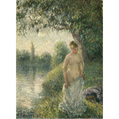 grafika-Puzzle - 300 pieces - Pissarro Camille: The Bather, 1895