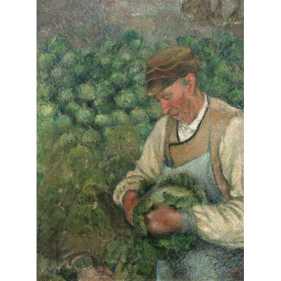 grafika-Puzzle - 2000 pieces - Camille Pissarro: The Gardener - Old Peasant with Cabbage