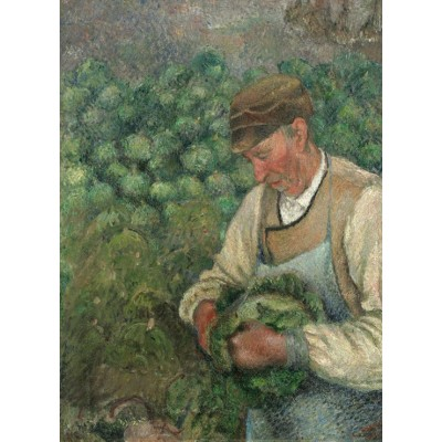grafika-Puzzle - 300 pieces - Camille Pissarro: The Gardener - Old Peasant with Cabbage