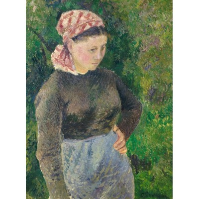 grafika-Puzzle - 2000 pieces - Camille Pissarro: Peasant Woman, 1880