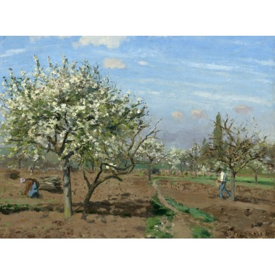 grafika-Puzzle - 2000 pieces - Camille Pissarro : Orchard in Bloom, Louveciennes, 1872