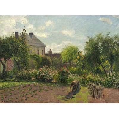 grafika-Puzzle - 2000 pieces - Camille Pissarro: The Artist's Garden at Eragny, 1898