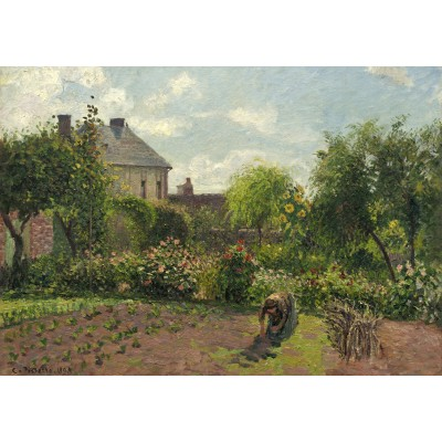 grafika-Puzzle - 1000 pieces - Camille Pissarro: The Artist's Garden at Eragny, 1898