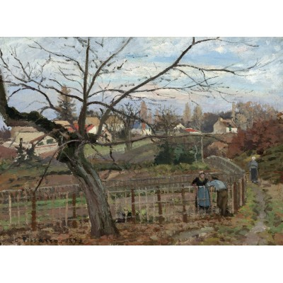 grafika-Puzzle - 2000 pieces - Camille Pissarro: The Fence, 1872