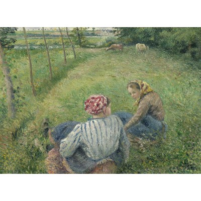 grafika-Puzzle - 300 pieces - Camille Pissarro: Young Peasant Girls Resting in the Fields near Pontoise, 1882