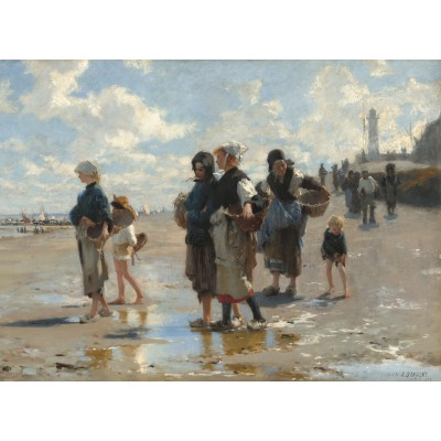grafika-Puzzle - 300 pieces - John Singer Sargent: Setting Out to Fish, 1878