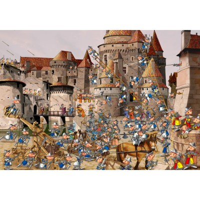 grafika-Puzzle - 1000 pieces - François Ruyer - Attack of the Castle