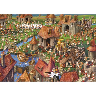grafika-Puzzle - 1000 pieces - François Ruyer - Rabbits!