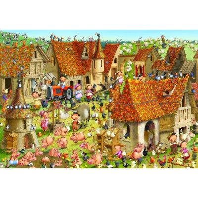 grafika-Puzzle - 1000 pieces - François Ruyer - Farm