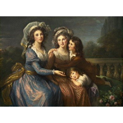 grafika-Puzzle - 2000 pieces - Louise-Élisabeth Vigee le Brun: The Marquise de Pezay, and the Marquise de Rougé with Her Sons Alexi