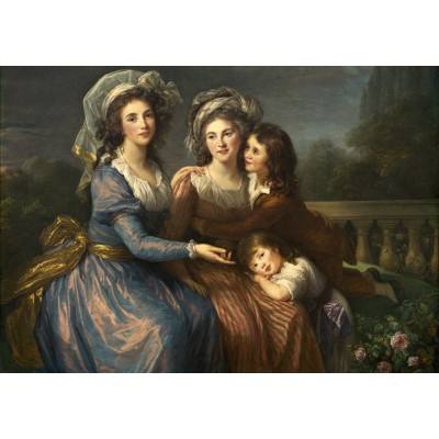 grafika-Puzzle - 1000 pieces - Louise-Élisabeth Vigee le Brun: The Marquise de Pezay, and the Marquise de Rougé with Her Sons Alexi