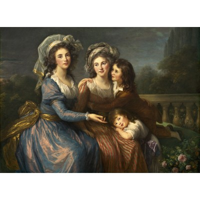 grafika-Puzzle - 300 pieces - Louise-Élisabeth Vigee le Brun: The Marquise de Pezay, and the Marquise de Rougé with Her Sons Alexi
