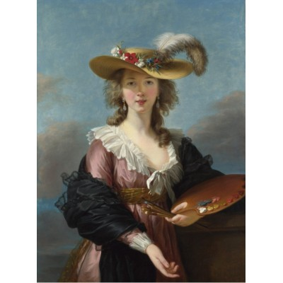 grafika-Puzzle - 2000 pieces - Elisabeth Vigée-Lebrun: Self-portrait in a Straw Hat, 1782