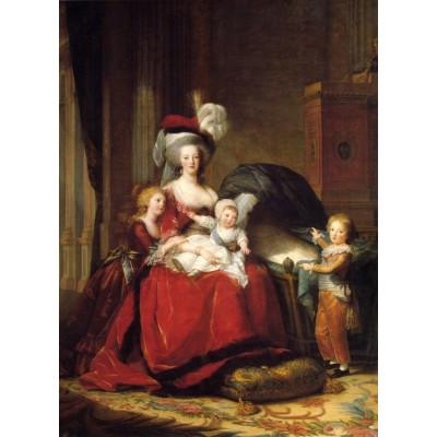 grafika-Puzzle - 300 pieces - Louise-Élisabeth Vigee le Brun: Marie Antoinette and her Children, 1787