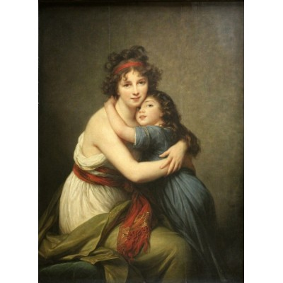 grafika-Puzzle - 300 pieces - Elisabeth Vigée-Lebrun: Madame Vigée-Lebrun and her daughter, 1789