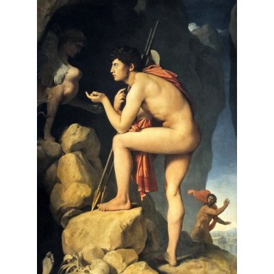 grafika-Puzzle - 300 pieces - Jean-Auguste-Dominique Ingres: Oedipus explains the riddle of the sphinx, 1808