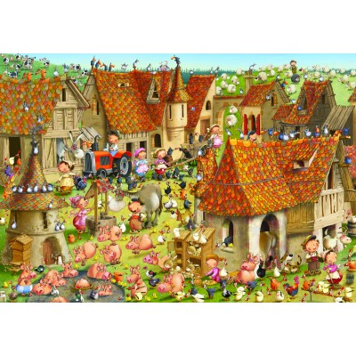 grafika-Puzzle - 1000 pieces - François Ruyer - The Farm