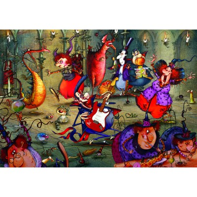 grafika-Puzzle - 1000 pieces - François Ruyer - The Witches Festival