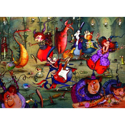 grafika-Puzzle - 300 pieces - François Ruyer - The Witches Festival