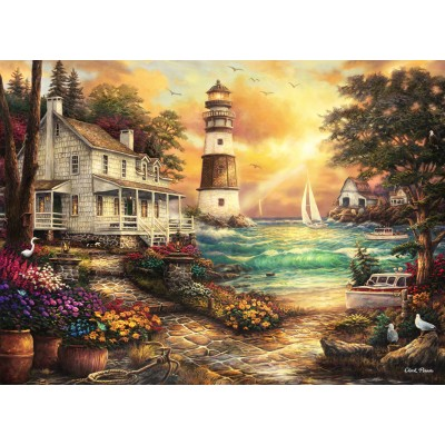 grafika-Puzzle - 300 Teile - Chuck Pinson - Cottage by the Sea