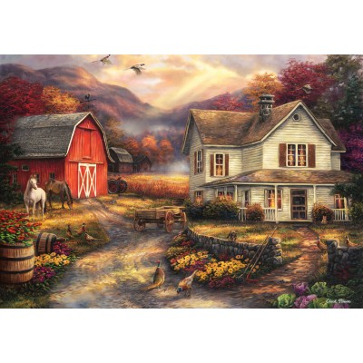 grafika-Puzzle - 1000 pieces - Chuck Pinson - Relaxing on the Farm