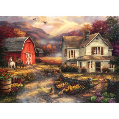 grafika-Puzzle - 300 pieces - Chuck Pinson - Relaxing on the Farm