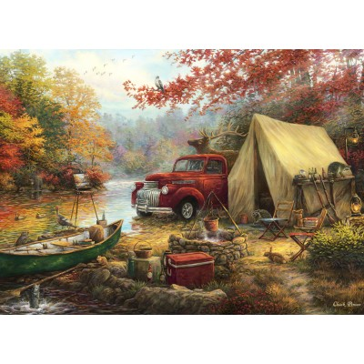 grafika-Puzzle - 300 Teile - Chuck Pinson - Share the Outdoors