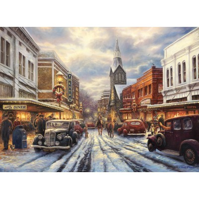 grafika-Puzzle - 300 pieces - Chuck Pinson - The Warmth of Small Town Living