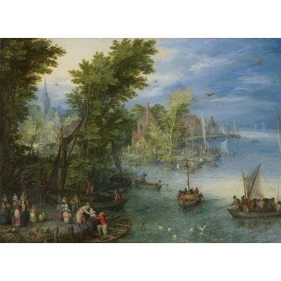 grafika-Puzzle - 300 pieces - Jan Brueghel - River Landscape, 1607