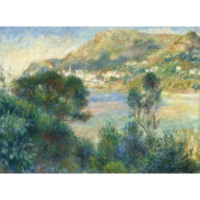 grafika-Puzzle - 2000 pieces - Auguste Renoir - View of Monte Carlo from Cap Martin