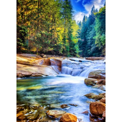 grafika-Puzzle - 300 pieces - Beautiful Waterfall in the Forest