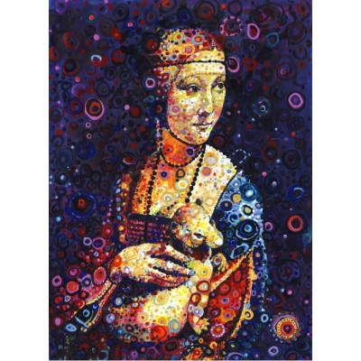 grafika-Puzzle - 300 pieces - Leonardo da Vinci: Lady with an Ermine, by Sally Rich