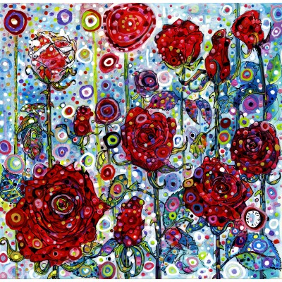 grafika-Puzzle - 1500 pieces - Sally Rich - Roses