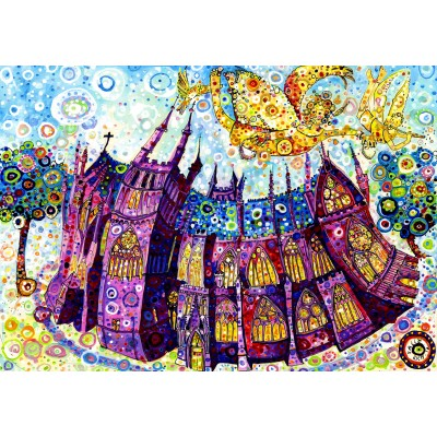 grafika-Puzzle - 1000 pieces - Sally Rich - Cathedral