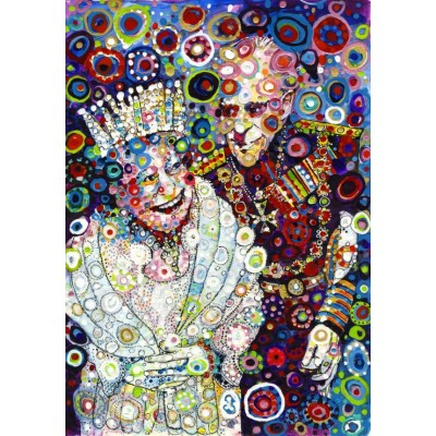 grafika-Puzzle - 1000 pieces - Sally Rich - The Queen and Prince Philip