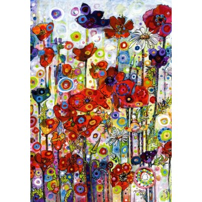 grafika-Puzzle - 1000 pieces - Sally Rich - Poppies