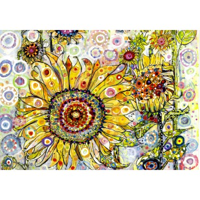 grafika-Puzzle - 1000 pieces - Sally Rich - Sunflowers