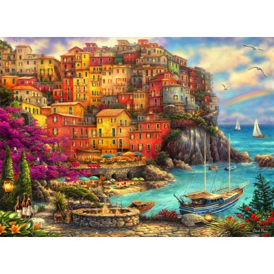 grafika-Puzzle - 300 Teile - Chuck Pinson - A Beautiful Day at Cinque Terre