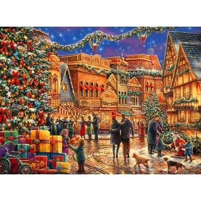 grafika-Puzzle - 2000 pieces - Chuck Pinson - Christmas at the Town Square