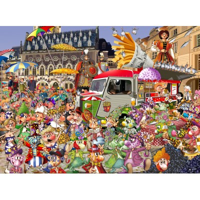 grafika-Puzzle - 2000 pieces - The Lille Braderie