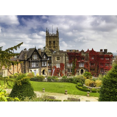 grafika-Puzzle - 2000 pieces - Abbey Hotel in Great Malvern