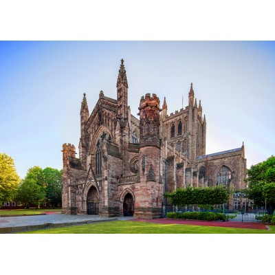 grafika-Puzzle - 1000 Teile - Hereford Cathedral