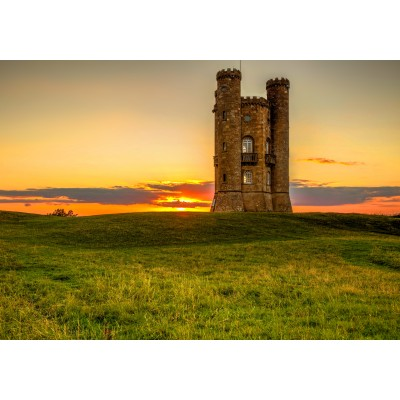 grafika-Puzzle - 1000 Teile - Broadway Tower in the Cotswolds
