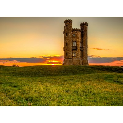 grafika-Puzzle - 300 Teile - Broadway Tower in the Cotswolds