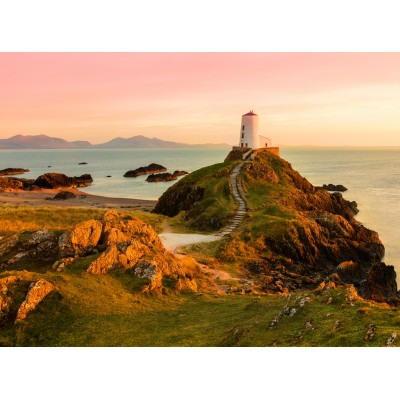 grafika-Puzzle - 2000 Teile - Old lighthouse at Llanddwyn Island, Anglesey