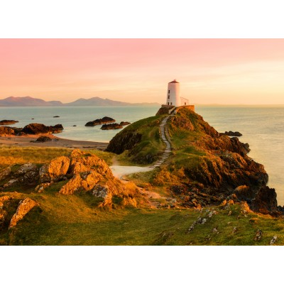 grafika-Puzzle - 300 Teile - Old lighthouse at Llanddwyn Island, Anglesey