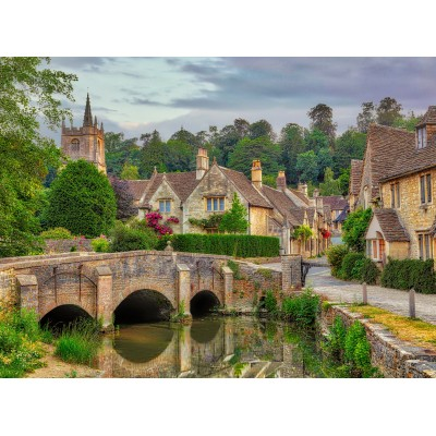 grafika-Puzzle - 2000 pieces - Castle Combe, Cotswolds